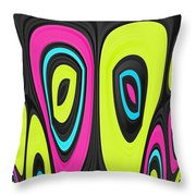 Psychel - 006 Throw Pillow by Variance Collections