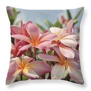Pua Melia Ke Aloha Maui Throw Pillow by Sharon Mau