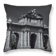 Puerta De Alcala Throw Pillow by Susan Candelario