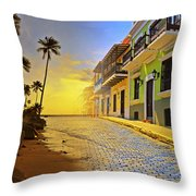 Puerto Rico Collage 2 Throw Pillow by Stephen Anderson