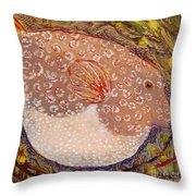 Puffer Throw Pillow by Anna Skaradzinska
