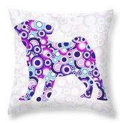 Pug - Animal Art Throw Pillow by Anastasiya Malakhova