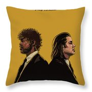 Pulp Fiction Throw Pillow by Jeremy Scott