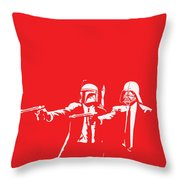 Pulp Wars Throw Pillow by Patrick Charbonneau