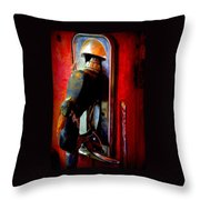 Pump Up The Vintage Throw Pillow by Karen Wiles