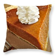 Pumpkin Pie Throw Pillow by Elena Elisseeva