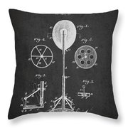 Punching Apparatus Patent Drawing From1895 Throw Pillow by Aged Pixel