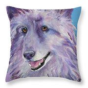 Puppy Dog Throw Pillow by Pat Saunders-White