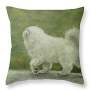 Puppy Struttin' Throw Pillow by Elizabeth  Ellis