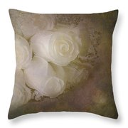 Pure Roses Throw Pillow by Susan Candelario