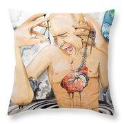 Purge Throw Pillow by Lazaro Hurtado