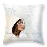 Purity Throw Pillow by Jennifer Page
