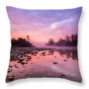 Purple Dawn Throw Pillow by Davorin Mance