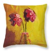 Purple Flowers Throw Pillow by Patricia Awapara