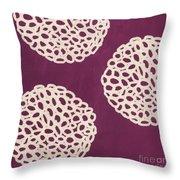 Purple Garden Bloom Throw Pillow by Linda Woods