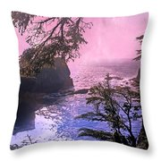 Purple Haze Throw Pillow by Marty Koch