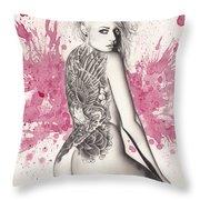 Purple Lake Throw Pillow by Pete Tapang