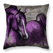 Purple One Throw Pillow by Angel  Tarantella
