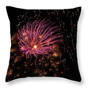 Purple Orbit Throw Pillow by Aimee L Maher Photography and Art