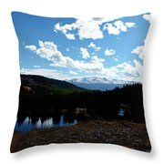 Purple Pasques Popping Throw Pillow by Jeremy Rhoades
