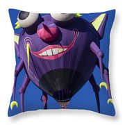 Purple people eater Throw Pillow by Garry Gay