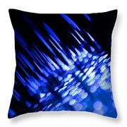 Purple Rain Throw Pillow by Dazzle Zazz