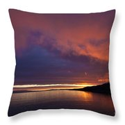 Purple Skies Throw Pillow by Heiko Koehrer-Wagner