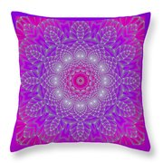 Purple Space Flower Throw Pillow by Hanza Turgul