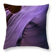 Purple Waves Throw Pillow by Mike  Dawson