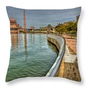 Putra Mosque Throw Pillow by Adrian Evans