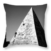 Pyramid Of Cestius Throw Pillow by Fabrizio Troiani