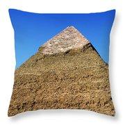 Pyramids Of Giza 15 Throw Pillow by Antony McAulay