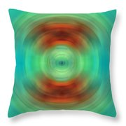 Qi - Energy Art By Sharon Cummings Throw Pillow by Sharon Cummings