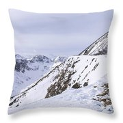 Quandary Peak Panorama Throw Pillow by Aaron Spong