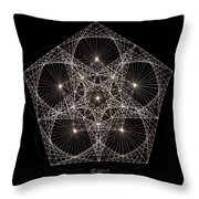 Quantum Star II Throw Pillow by Jason Padgett