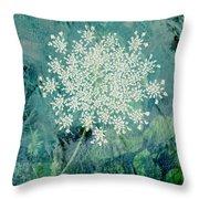 Queen Anne's Lace  Throw Pillow by Ann Powell