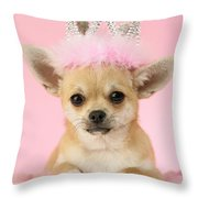 Queen Chihuahua Throw Pillow by Greg Cuddiford