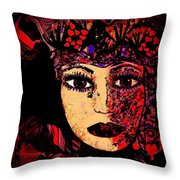 Queen Of Hearts Throw Pillow by Natalie Holland