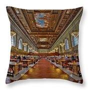 Quiet Room Throw Pillow by Susan Candelario