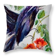 Quoi II Throw Pillow by Beverley Harper Tinsley