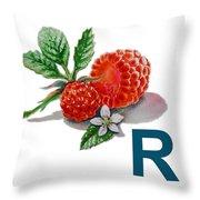 R Art Alphabet For Kids Room Throw Pillow by Irina Sztukowski
