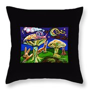 Rabbits At Night Throw Pillow by Genevieve Esson