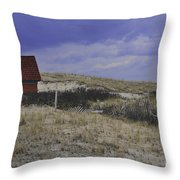 Race Point Light Shed Throw Pillow by Catherine Reusch  Daley