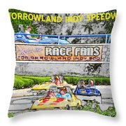 Racing Dreams Throw Pillow by David Lee Thompson