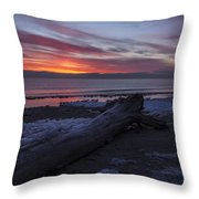 Radiant Rise Throw Pillow by CJ Schmit