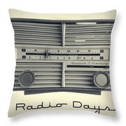 Radio Days Throw Pillow by Edward Fielding