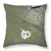 Raft And Boat Throw Pillow by John McGraw