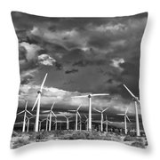 Rage Of The Wind Palm Springs Throw Pillow by William Dey