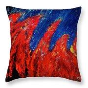 Rain On Fire Throw Pillow by Ania M Milo