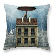 Rain Protection Throw Pillow by Jutta Maria Pusl